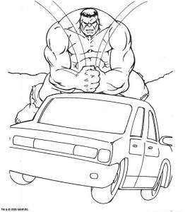kleurplaat Hulk (38)