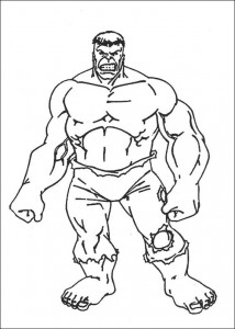 coloring page Hulk (4)