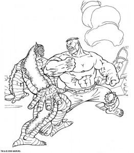 kleurplaat Hulk (40)