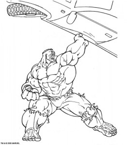 kleurplaat Hulk (42)