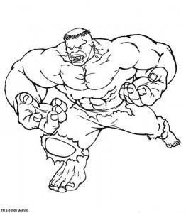 kleurplaat Hulk (43)