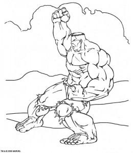 kleurplaat Hulk (44)