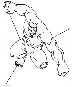 kleurplaat Hulk (47)