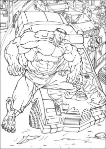 kleurplaat Hulk (49)