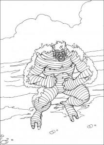 kleurplaat Hulk (52)