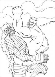 kleurplaat Hulk (54)