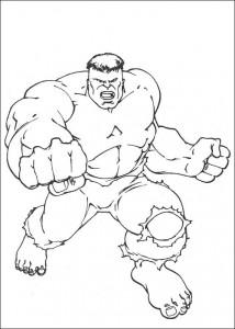 kleurplaat Hulk (57)