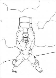 kleurplaat Hulk (58)