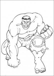 kleurplaat Hulk (59)