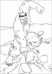 kleurplaat Hulk (6)