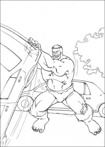 kleurplaat Hulk (61)