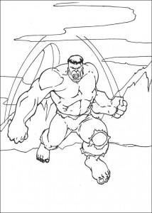 kleurplaat Hulk (63)