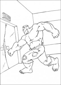 kleurplaat Hulk (65)