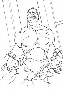 kleurplaat Hulk (68)
