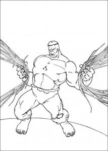 kleurplaat Hulk (71)