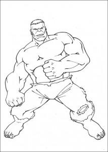 kleurplaat Hulk (77)