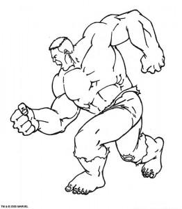 kleurplaat Hulk (8)