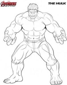 kleurplaat Hulk