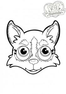 kleurplaat husky 2