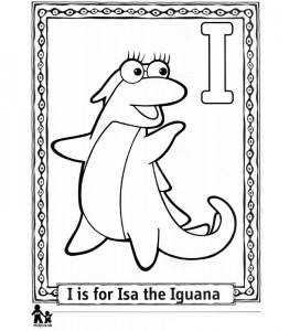coloring page I Iguana = Iguana
