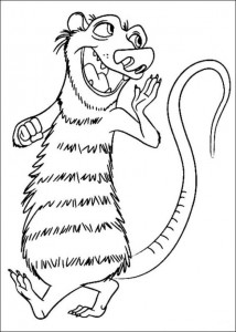 coloring page Ice Age 4 Continental Drift (3)