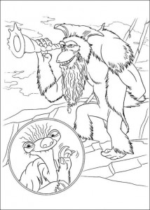 coloring page Ice Age 4 Continental Drift (4)