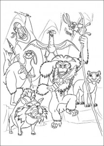 coloring page Ice Age 4 Continental Drift (6)
