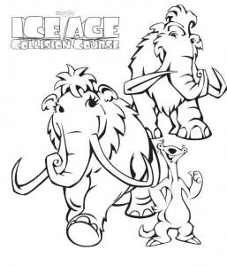 kleurplaat ice age 5