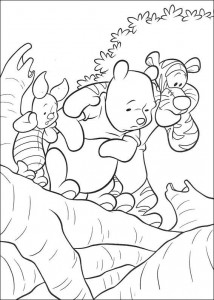coloring page Everyone looks at Roe