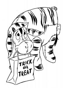 målarbok Eeyore Halloween
