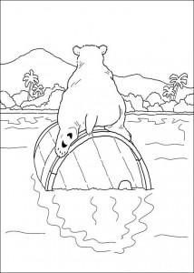 coloring page Polar bear on tons