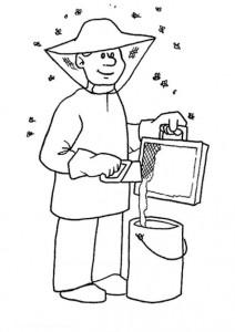 coloring page Beekeeper
