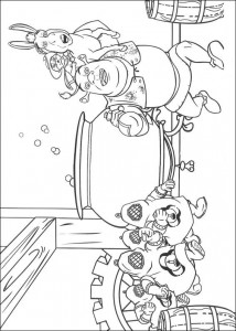 coloring page In the drinks factory