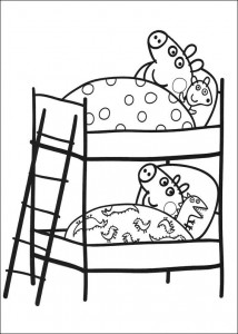 coloring page In a bunk bed