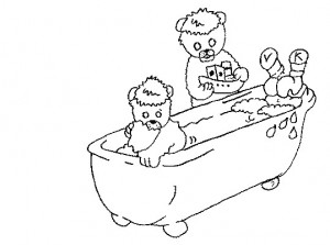 coloring page In the bath (1)