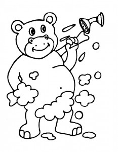coloring page In the bath (11)