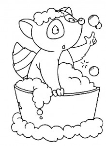 coloring page In the bath (12)