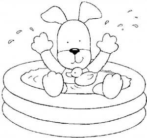 coloring page In the bath (2)