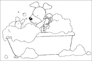 coloring page In the bath (3)