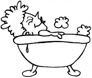 coloring page In the bath (6)