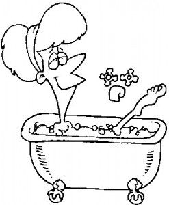coloring page In the bath (7)