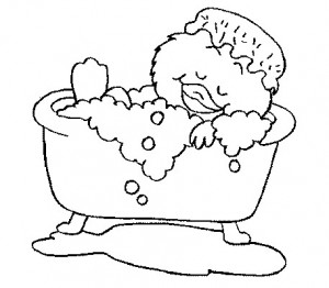 coloring page In the bath (8)