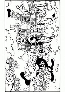 pagina da colorare In vacanza a Parigi