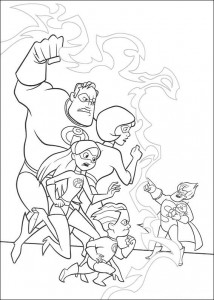 coloring page Incredibles