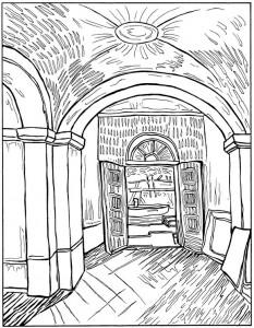 coloring page Entrance Asylum 1889
