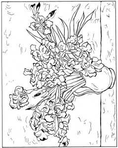 coloring page Irises 1890