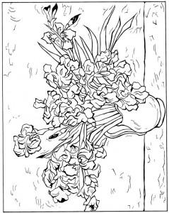 kleurplaat Irissen 1890