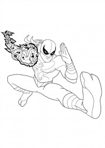 coloring page iron fist 2