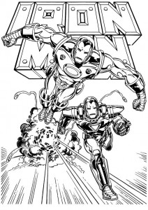 coloring page Iron man (1)