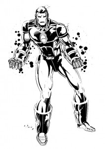 coloring page Iron man (10)